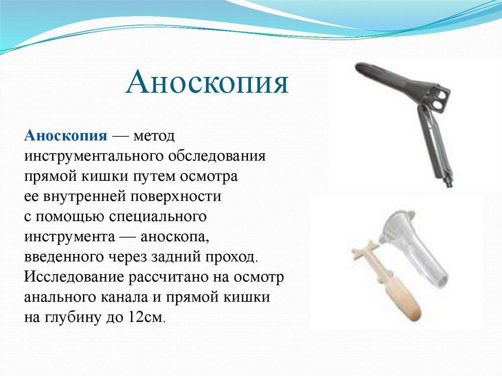 Аноскопия - термин